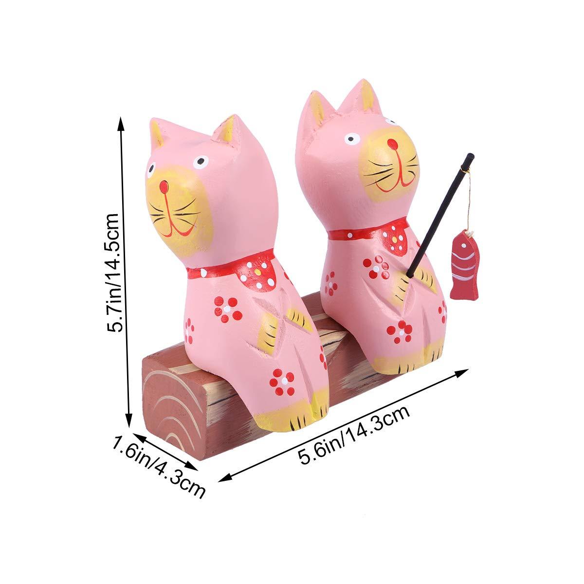 Vosarea - Figura de Gato de Madera para decoración de ...
