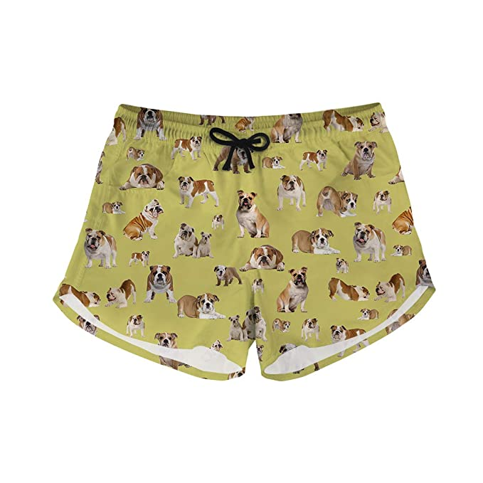 Amazon.com: Pantalones cortos para mujer con cordón elástico ...