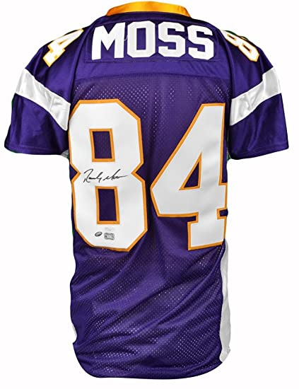 new product 3dcc1 f98c6 Randy Moss Autographed Minnesota Vikings Jersey - Custom ...