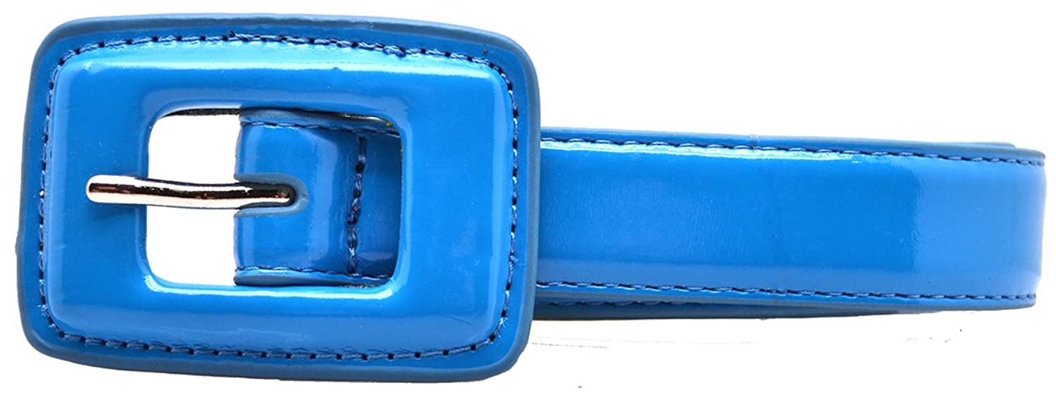 Style & Co. Womens Skinny Patent Belt Turquoise Size M
