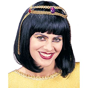 Fun World Costumes Cleopatra Egyptian Wig Adult Accessory (peluca)