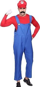 Anladia CLE DE Tous - Disfraz de Mario Bros para Adulto Hombre ...