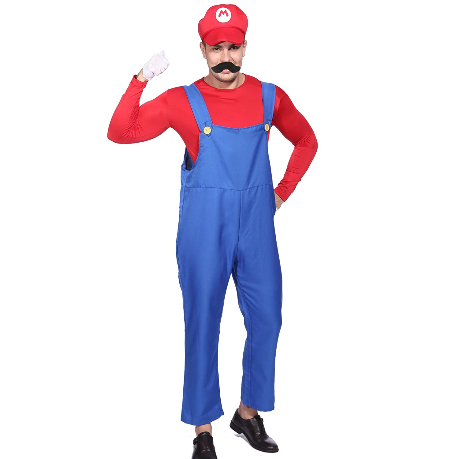 CLE DE TOUS Disfraz de Mario Bros para Adulto hombre Cosplay Dress