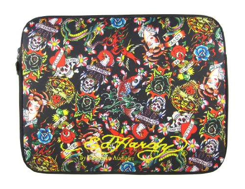 Ed Hardy All Over Collage Laptop Sleeve Medium Notebook
