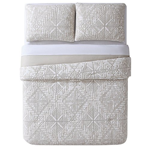 Brooklyn Loom Sand Washed Cotton Quilt Set, Full/Queen, Neutral