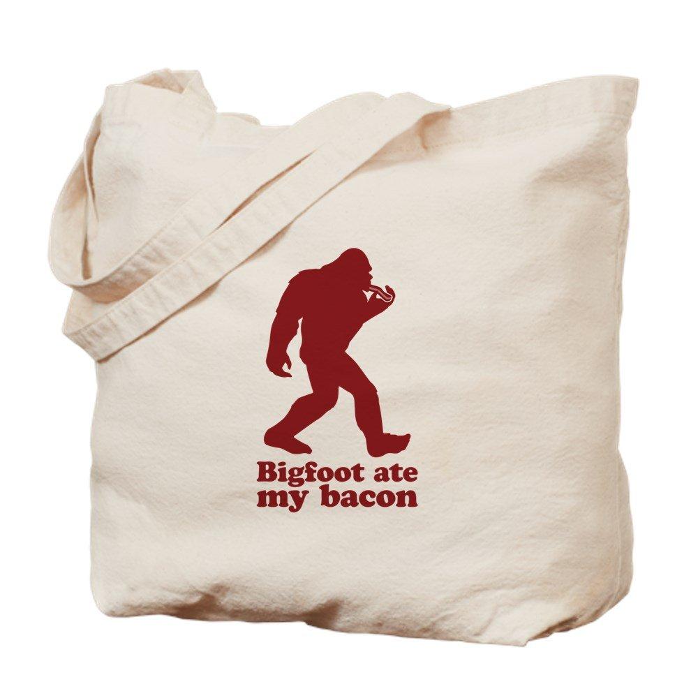 CafePress – Bigfoot ( Sasquatch ) Ate Myベーコン。 – ナチュラルキャンバストートバッグ、布ショッピングバッグ B01JOOJNPK