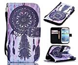 S3 Case,Galaxy S3 Case, Welity Vintage Dream Catcher [ Wristlet ][ Kickstand ] PU Leather Clutch Pouch Wallet [Credit Card/Cash Slots] Flip Cover for Samsung Galaxy S3 i9300