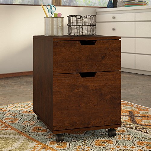 Bush Furniture MCF116AN-03 Mobile Pedestal Mission Creek 2 Drawer, Antique Cherry Review