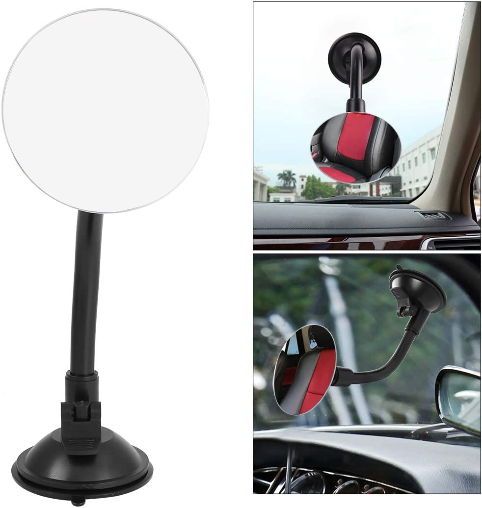 Zento Deals 2 Pks of Adjustable Blind Spot Round Convex Mirror With Suction Cups