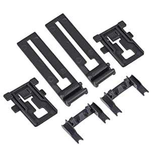 W10195839 & W10195840 & W10250160 Dishwasher Rack Adjuster,Dishwasher Positioner ,Adjuster Arm Clip-lock for Kenmore/Whirlpool(6 Pcs)