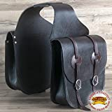 HILASON WESTERN HEAVYDUTY TRADITIONAL LEATHER COWBOY TRAIL RIDE HORSE SADDLE BAG