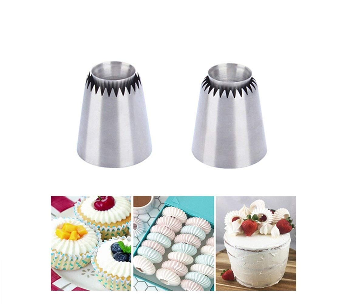 Ddfly 2 Style Russian Piping Cake Nozzles Tips Sultan Ring Tip DIY Baking Cookies Mold Candy Cake Decorating Supplies Kits