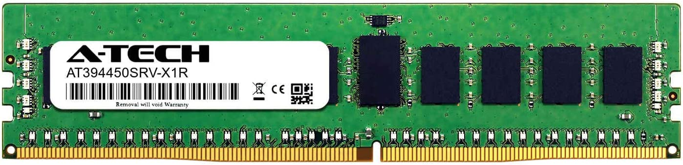 Server Memory Ram A-Tech 16GB Kit DDR4 PC4-21300 2666Mhz ECC Registered RDIMM 1rx8 2 x 8GB for ASUS RS700A-E9-RS4 AT394450SRV-X2R1
