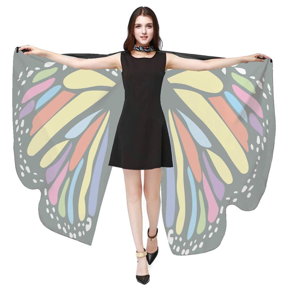 FEOYA Women Butterfly Shawl Wings Halloween Christmas Dancing Costume Cape