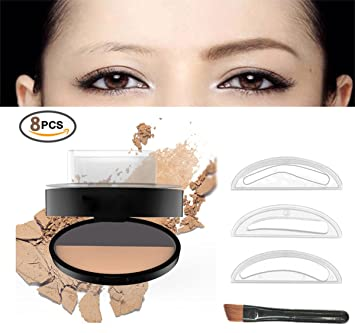 Natural Eyebrow Stamp In Seconds Stamper Powder Waterproof Long Lasting Brown Easy Press Shapes
