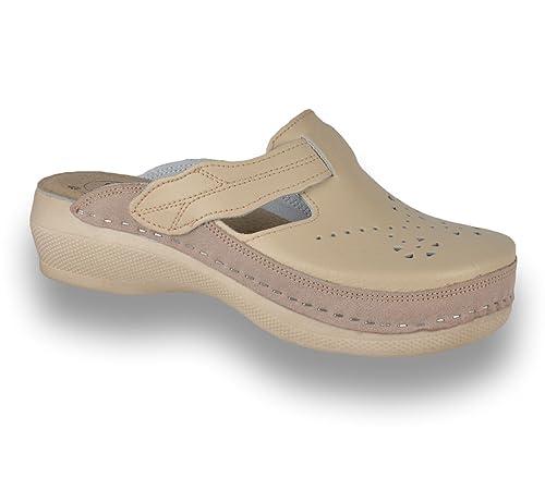 785ea679 LEON PU156 Zuecos Zapatos Zapatillas de Cuero para Mujer: Amazon.es: Zapatos  y complementos