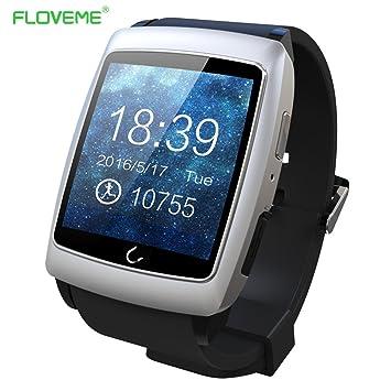 FLOVEME Reloj Bluetooth SmartWatch Fitness Reloj con Teléfono ...