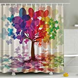 Tree Shower Curtains Colorful Shower Curtains for Bathroom Decoration