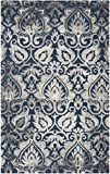 Safavieh Dip Dye Collection DDY511N Handmade Navy and Grey Wool Area Rug (5′ x 8′) Review