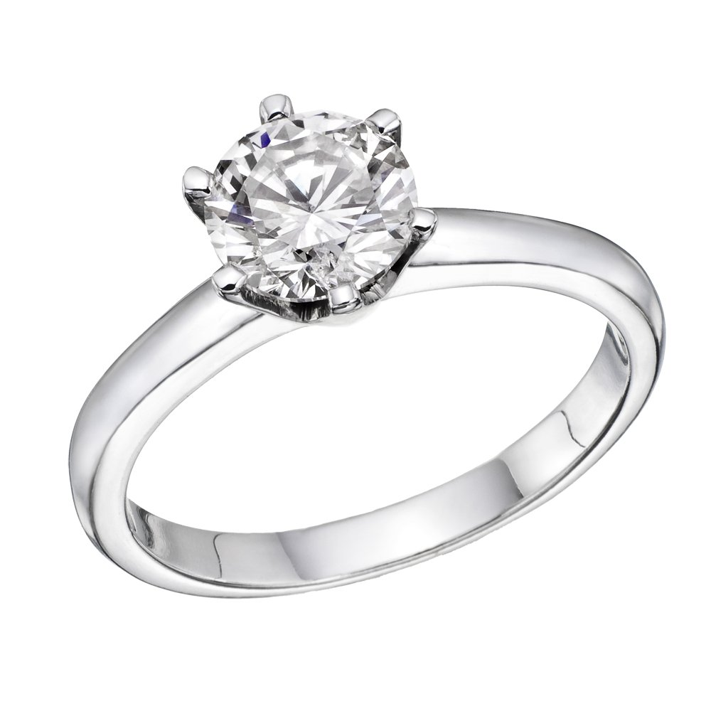 NDSTORE 1 2 ct IGI Certified 14K White Yellow Gold Round-Brilliant-Cut  Diamond Engagement Ring (L-M Color ff8218b91
