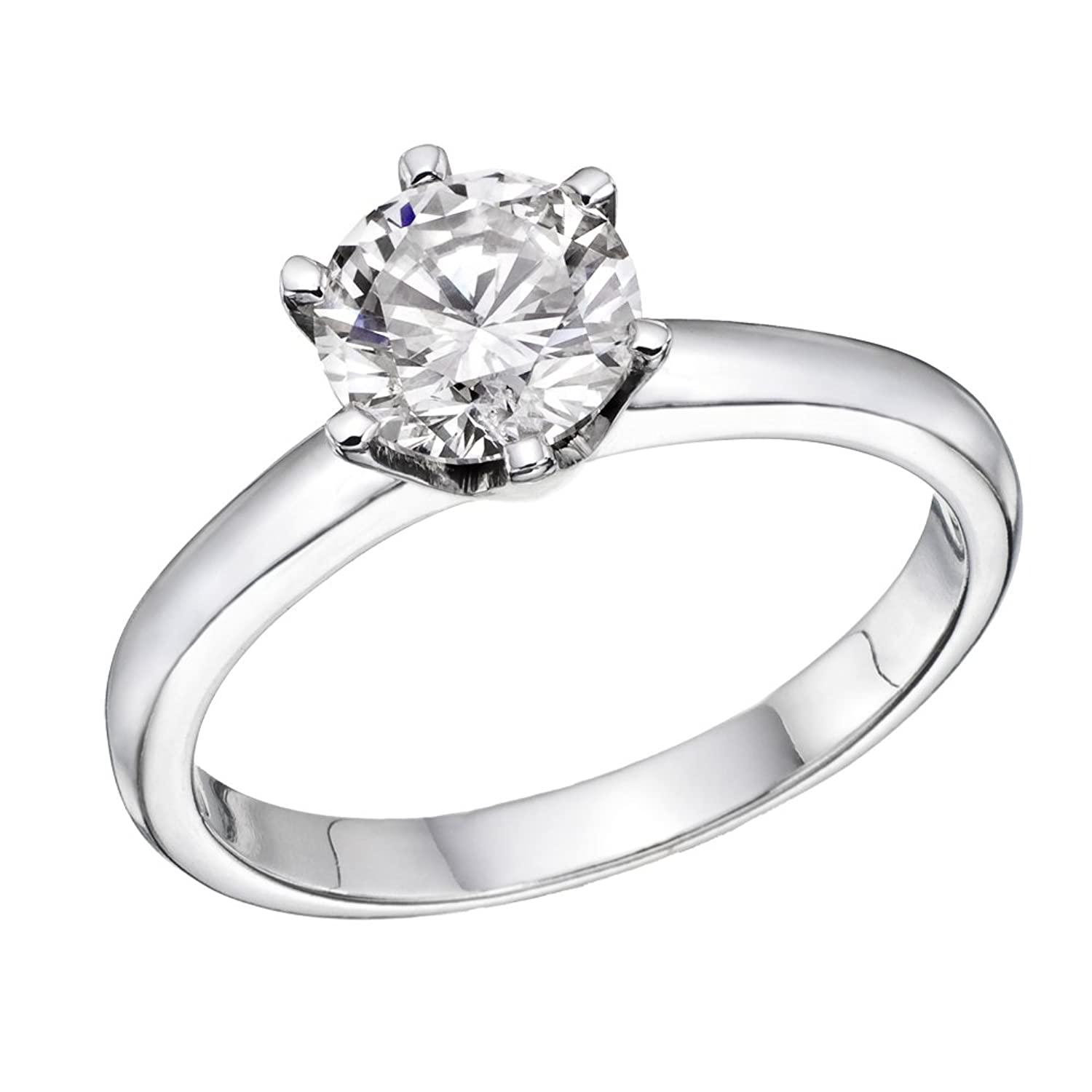 1/2 ct IGI Certified Diamond Engagement Ring in 14K White Gold (1/2 ct, L-M Color, SI1-SI2 Clarity)