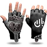 LYCAON Cycling Gym Gloves, Weight Lifting Gloves (Gel-Padded, Non-Slip, Breathable) Workout Exercise Training Fitness Biking Racing MTB Gloves for Men Women