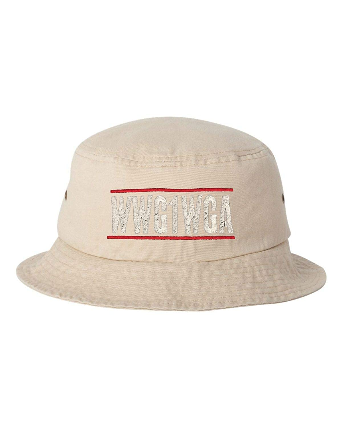 Adult Where We Go One We Go All Embroidered Bucket Cap Dad Hat
