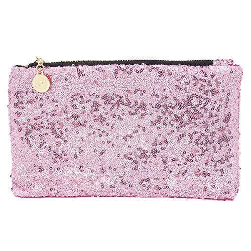 L'vow Evening Clutch Pink Bag Sparkling Fashion Handbag Sequins Party Purse rqpSgrR4xw