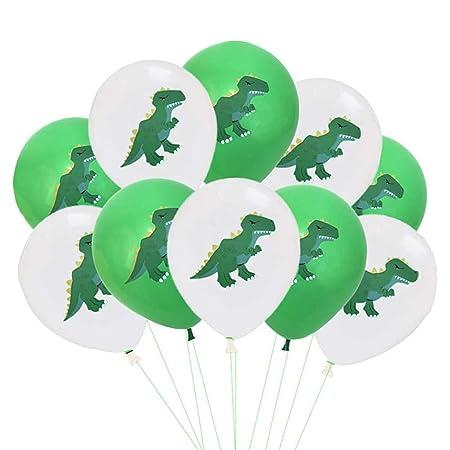 Shuiyibali - 10 Globos de Dinosaurio de látex para ...
