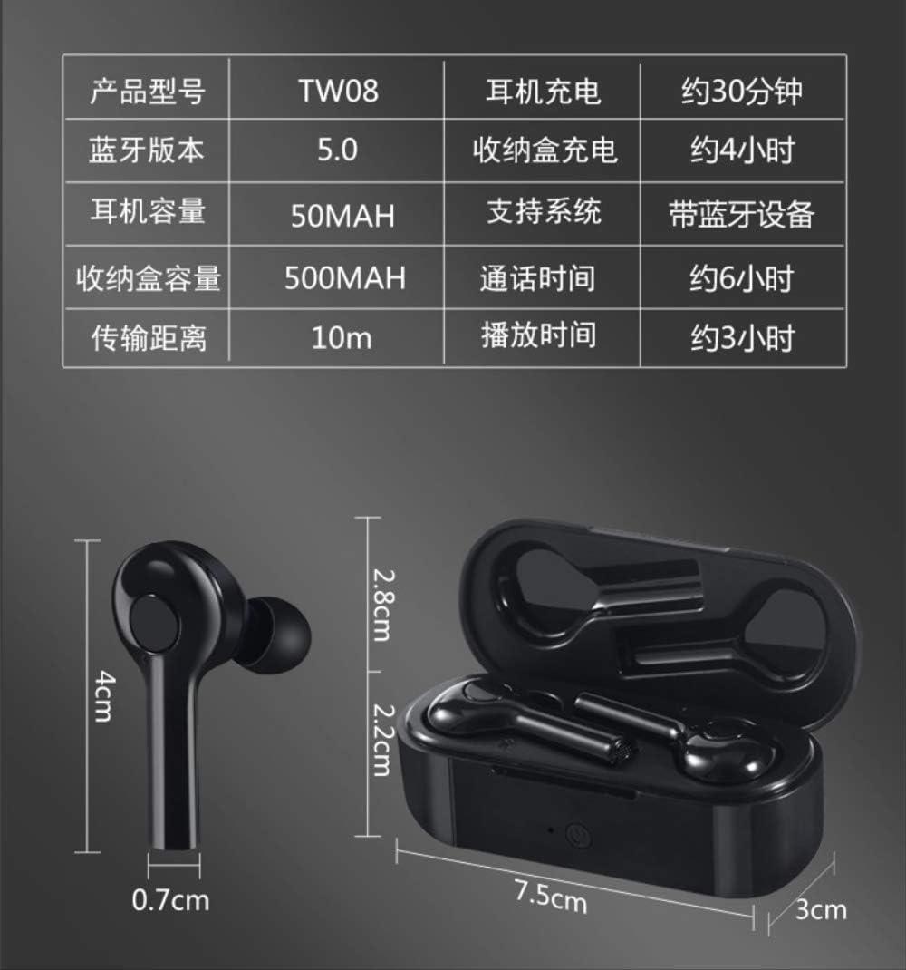 Tws Draadloze Bluetooth-headset Voor Huawei 5.0 Sport 4d Stereo Binaurale Mini Waterdicht zwart wit