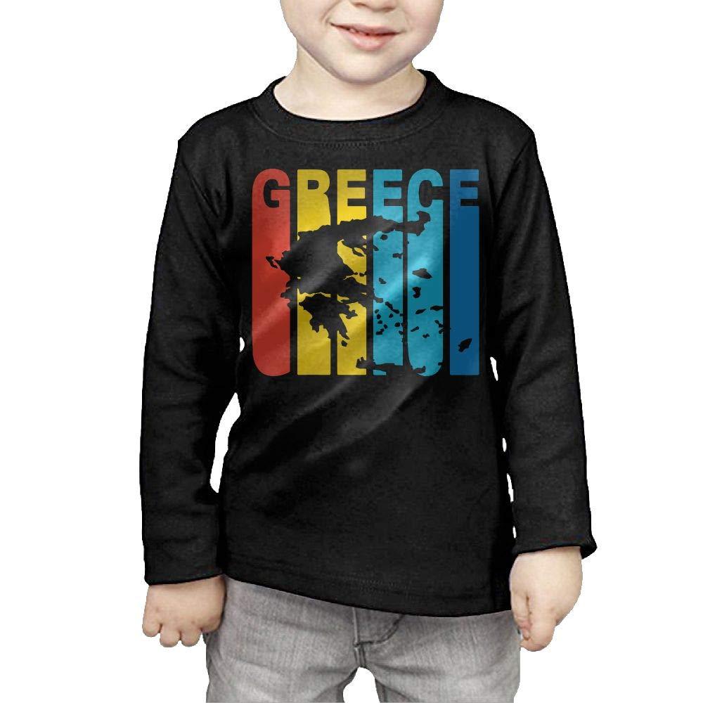 CERTONGCXTS Toddler Greece Greek Retro 1970s Style ComfortSoft Long Sleeve Tee
