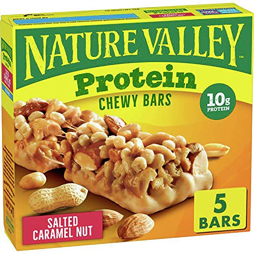 Nature Valley Chewy Protein Granola Bars, Salted Caramel Nut, 5 ct, 7.1 oz