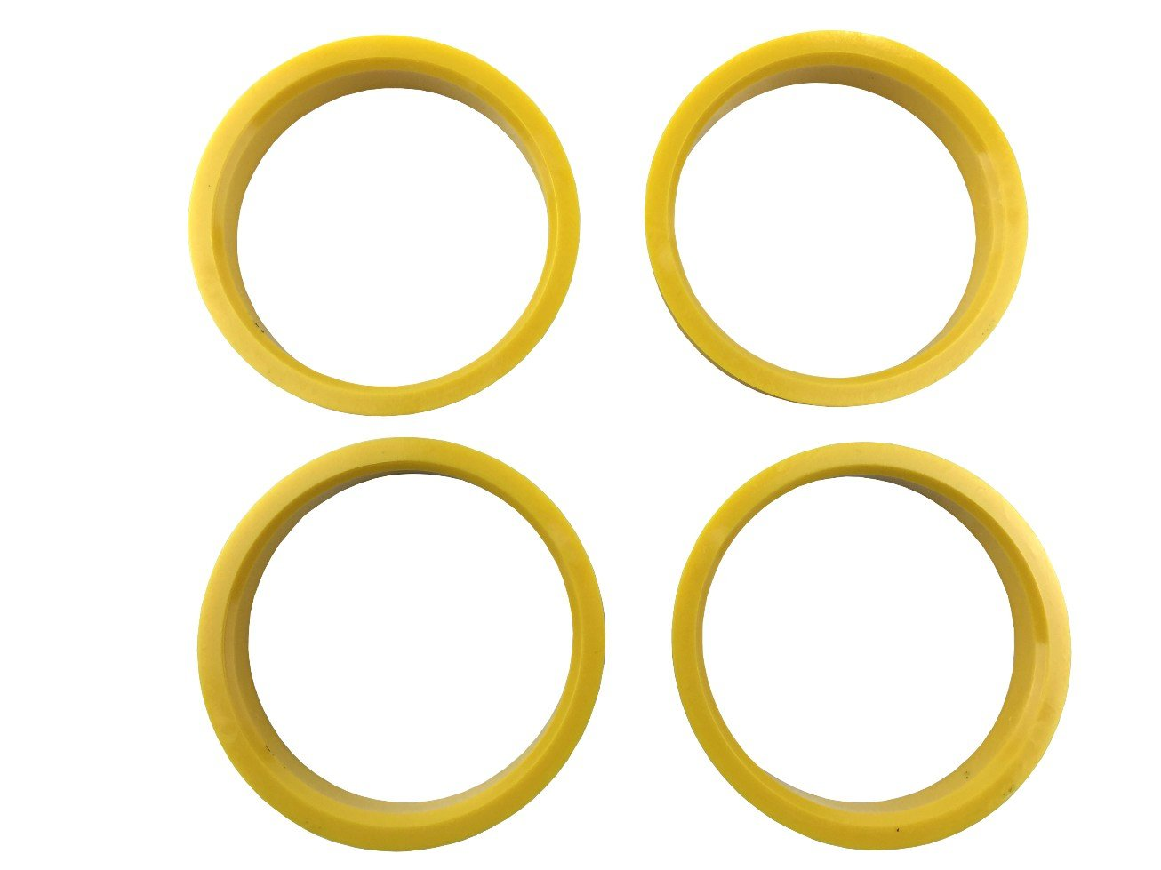 4 Pieces - Hub Centric Rings - 72.6mm OD to 63.4mm ID - Yellow Poly Carbon Hub Rings JianDa