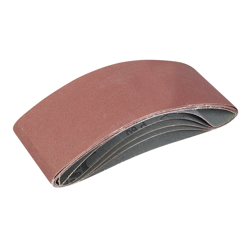 Silverline 338767 Lot de 5 Bandes abrasives 10 x 330/ mm Grains assortis