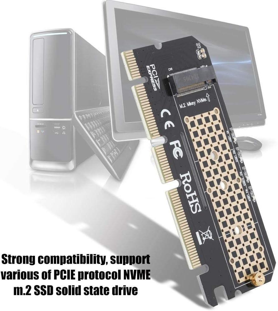 ASHATA M.2 to PCI-E Adapter Riser Card NVME M Key Type SSD to PCI-E Expansion Card Converter,PCI-E Expansion Card Support M-Key M.2 NVME Support Slot PCI-E 4X 8X 16X