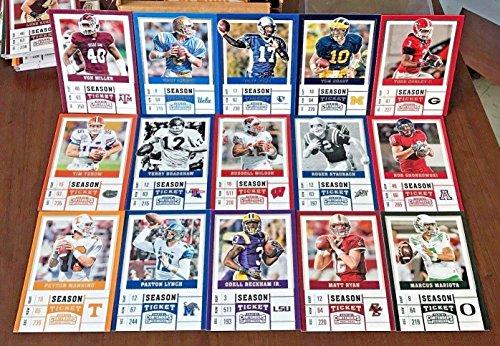 Boys Football Themed Birthday Party Favor Set of 100 Football Stars College Draft Picks Cards with Tom Brady, Aaron Rodgers, Dak Prescott, Ezekiel Elliott, Carson Wentz by Party Favors (Image #3)