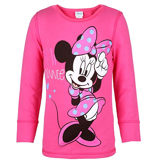 DISNEY Niñas Minnie Mouse Sudadera, rosa, talla 128, 8 años: Amazon.es: Ropa y accesorios