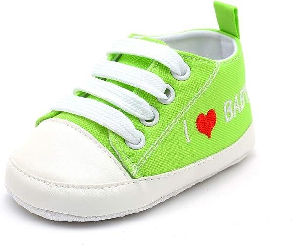 LEvifun Chaussure Baskets Bébé Fille Garçons Chaussure Bébé Fille Premier Pas Lettre Imprimée Souple Chic Chaussures Bébé Garçons Fille Sneakers