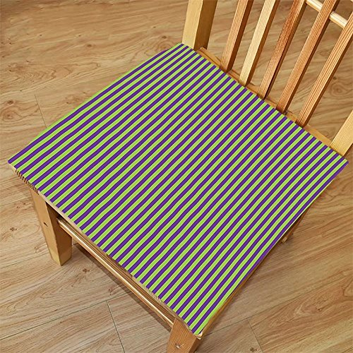 Paper Shaper Pop (Nalahome Set of 2 Waterproof Cozy Seat Protector Cushion Pop Art Decor Vintage Retro 50s 60s Style Bold Stripes Rooms Wallpaper Image Royal Blue and Lime Green Printing Size 18x18inch)