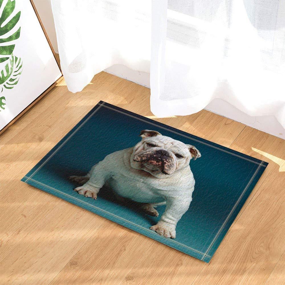 Feng Decoración Animal Bulldog inglés Alfombra de ba?o para ni?os ...