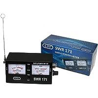 SWR171 Medidor Roe y watímetro para CB 27 MHz Y 2 Metros VHF, con 2 Instrumentos y Escala de Potencia 10/100 Watios