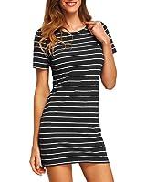 START 2016 Summer Mini Dress Stripe Dress