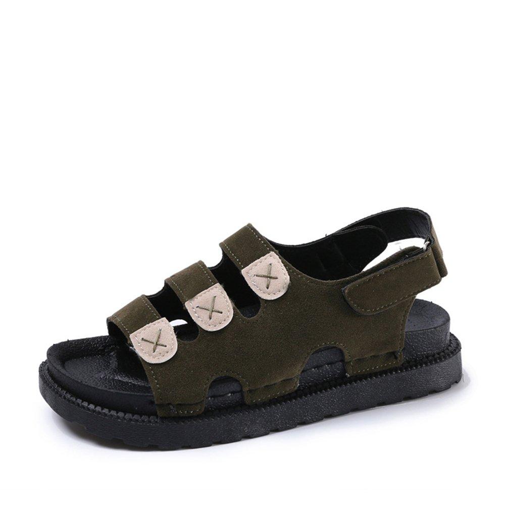 PRETTYHOMEL Women Sandals Flat Sandals Wedges Heel Summer Women Open Toe Platform Sandalias Ladies Sandals B07CYNX7TV 35/4.5 B(M) US Women|Green