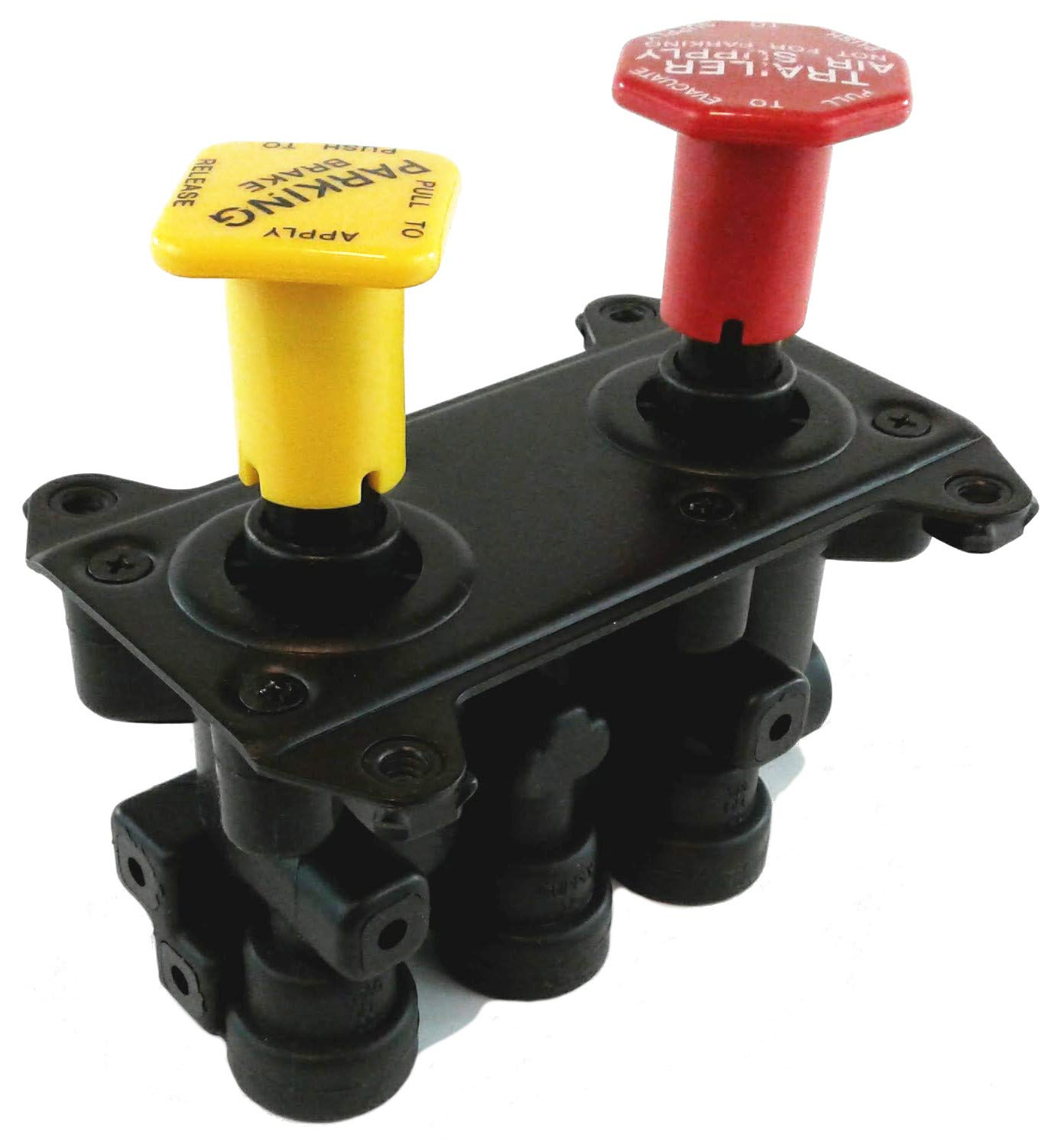 Hand Operated Manifold Dash Brake Valve 1/4'' Trailer Delivery for Heavy Duty Big Rigs by Brianna Auto Parts (BAP) (Image #2)