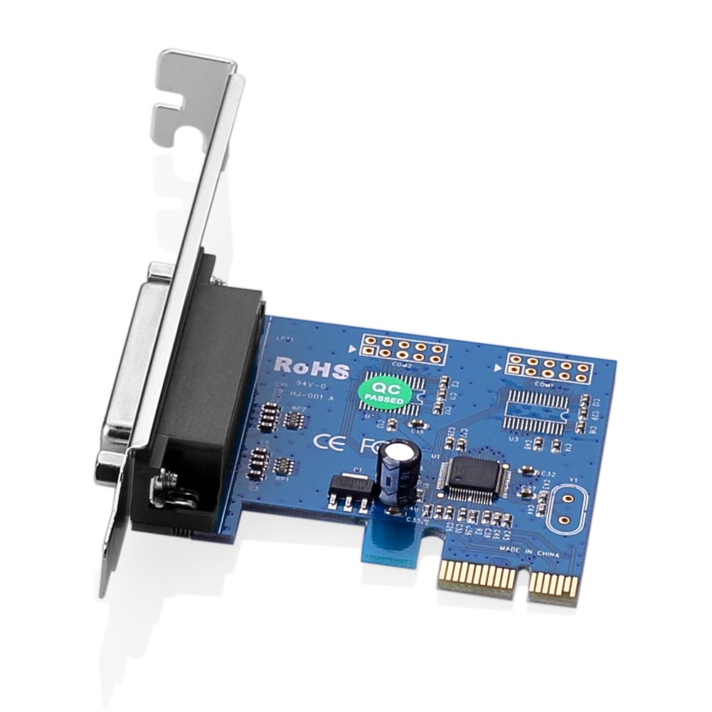 impresora a convertidor adaptador de PCI-E PCI Express Card Puerto/paralelo LPT Sienoc DB25