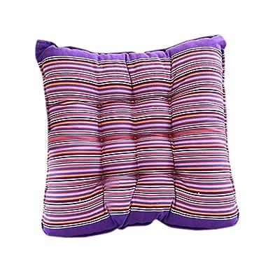 Gessppo 15.74 X 15.74 inch Seat Cushion Pearl Cotton Outdoor Garden Patio Home Kitchen Office Sofa Chair Seat Soft Cushion Seat Pad Chair Cushion Pad (Purple) : Garden & Outdoor