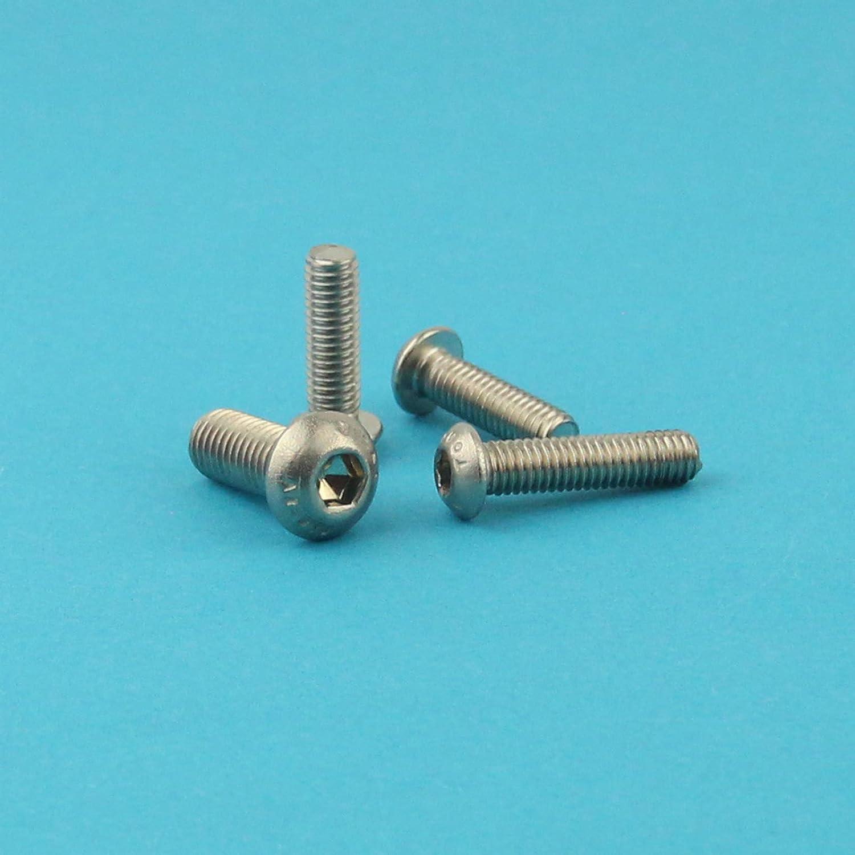 - ISO 7380 Linsenkopf Schrauben mit Flachkopf M6 x 65 mm Linsenkopfschrauben mit Innensechskant Gewindeschrauben Edelstahl A2 V2A 5 St/ück rostfrei Eisenwaren2000
