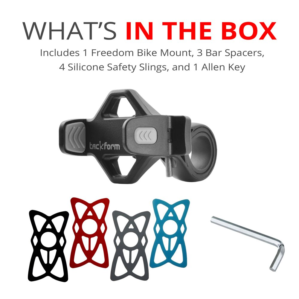 2 Pack Tackform Replacement Safety Slings Silicone Bands Holds iPhone SE iPhone 6//6s Black//RED iPhone 6 Plus // 6s Plus and Other Smartphones for Freedom Universal Bike//Motorcycle Phone Mount