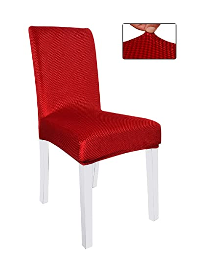 Super Panovous Dining Chair Covers Set Of 6 Chair Slipcovers Red Color Shiny Velvet Chair Covers Stretchy Universal Chair Covers Machost Co Dining Chair Design Ideas Machostcouk
