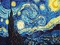 Zoomy Far Home Decoration 3D DIY Diamond Embroidery Van Gogh Starry Night Cross Stitch Kit Abstract Oil Diamond Painting Resin Hobby Craft: Square, 60X75CM